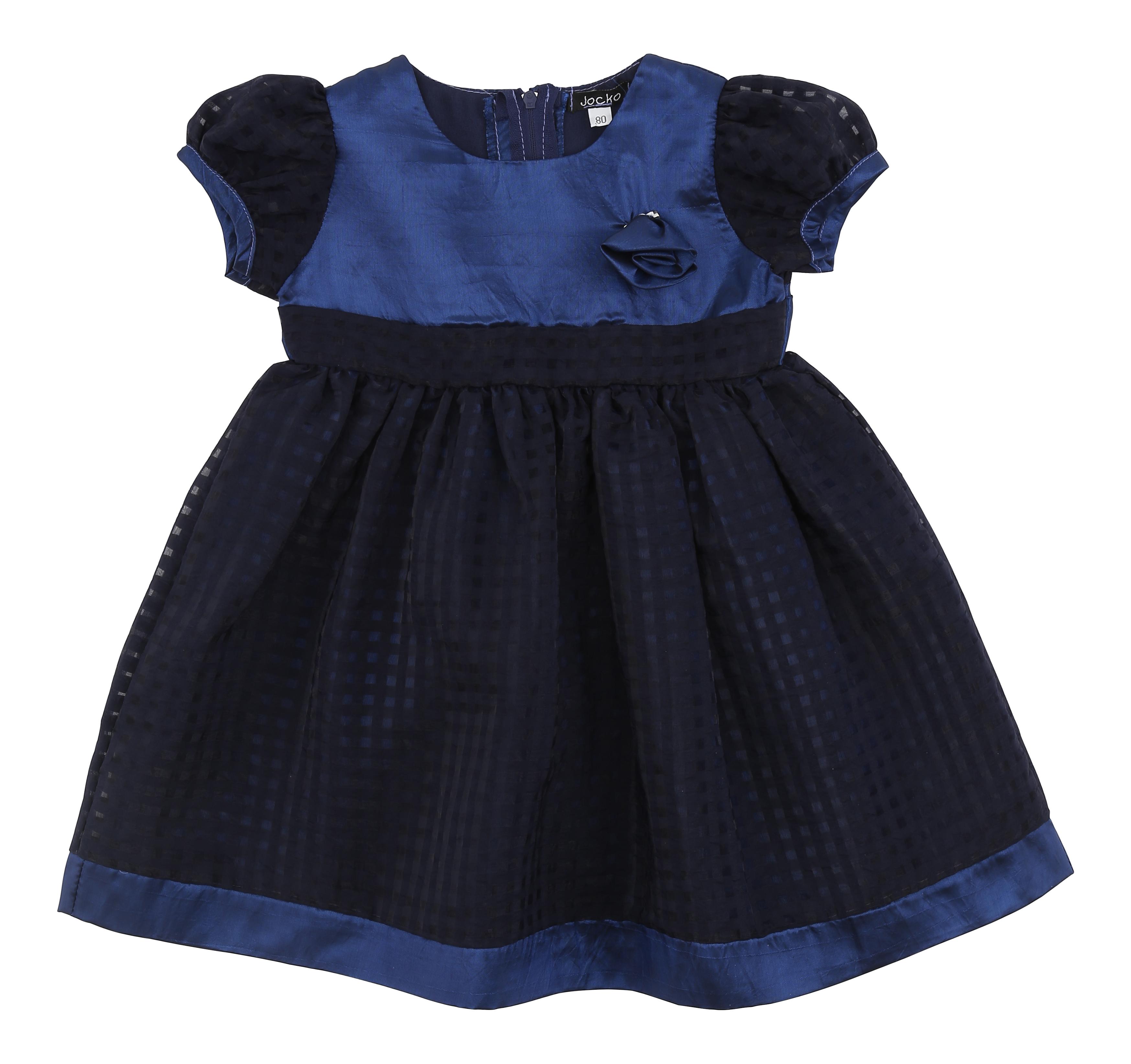 bb05a7c48cac Art. 12033 marine baby kjole i taft kombineret med en vævet tern.